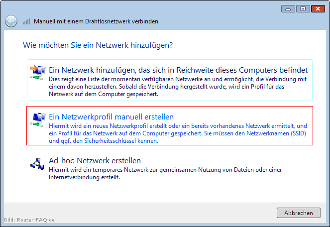 Windows Vista (WLAN - manuelle Installation) 5