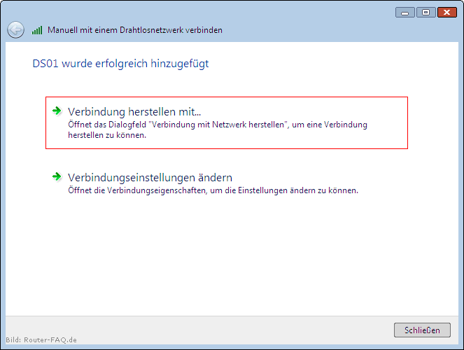 Windows Vista (WLAN - manuelle Installation) 8