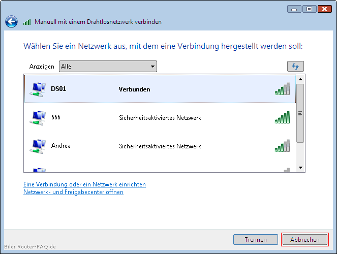 Windows Vista (WLAN - manuelle Installation) 9